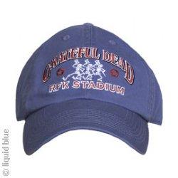 18ca6a11c3461a 17.95, Grateful Dead RFK 73 Blue Adjustable Baseball Cap